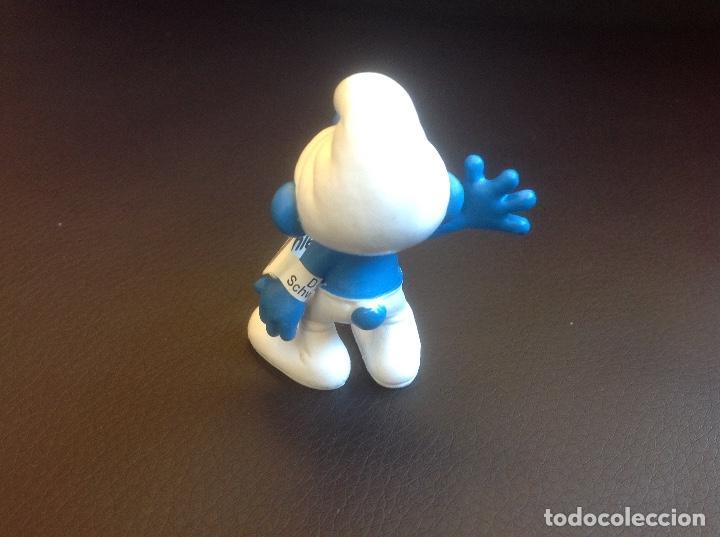 Figuras de Goma y PVC: Figura PVC los pitufos pitufo saludando 2010 peyo schleich - Foto 2 - 82157596