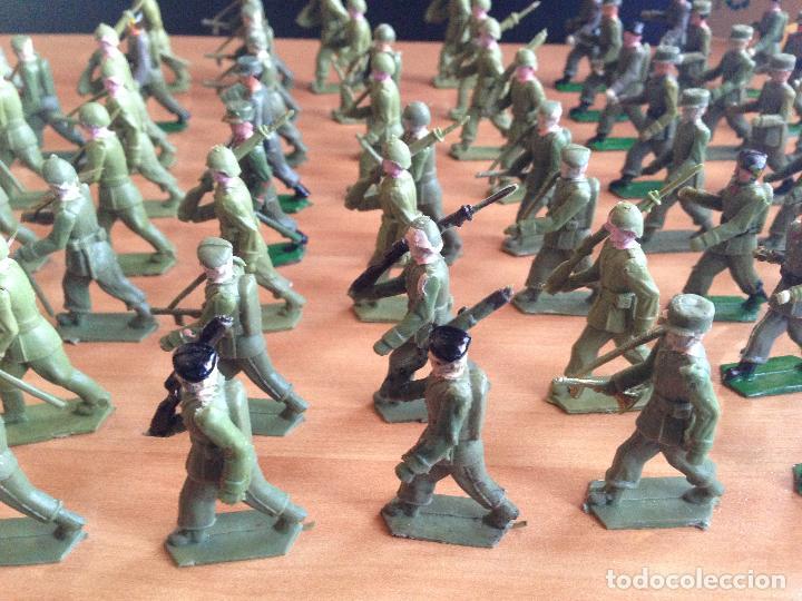 Figuras de Goma y PVC: ESPECTACULAR LOTE 62 SOLDADOS PLASTICO DESFILE MILITAR SOTORRES, TORRES MALTAS. - Foto 8 - 82486040