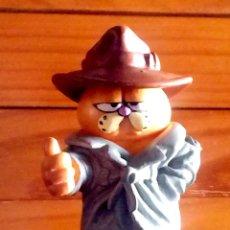 Figuras de Goma y PVC: GARFIELD DETECTIVE, MD TOYS, BELGIUM, 7CM DE ALTURA, BUEN ESTADO, ¡MUY RARO Y DIFÍCIL!. Lote 82530932