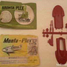 Figuras de Goma y PVC: MONTAPLEX SOBRES LOCOMOTORA Y VEHÍCULO ACUATICO. Lote 82959948