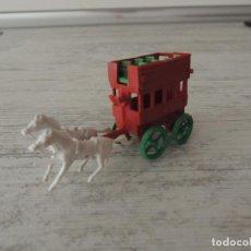 Figuras de Goma y PVC: AUTOBUS TIRADO POR CABALLOS. Lote 83008932