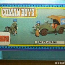 Figuras de Goma y PVC: COCHE - JEEP - COMAN BOYS - COMANSI - NUEVO EN SU CAJA ORIGINAL - COLOR ROJO. Lote 83190376