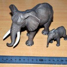 Figuras de Goma y PVC: LOTE DE DOS FIGURAS: MADRE Y CRÍA DE ELEFANTES - DE SCHLEICH / ALEMANIA - MADE IN CHINA - AÑO 2004. Lote 83272248