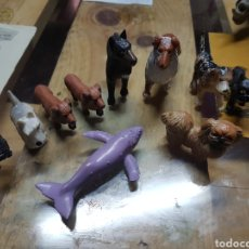 Figuras de Goma y PVC: LOTE YOLANDA ANIMALES 9 PERROS Y UNA BALLENA. Lote 83793794
