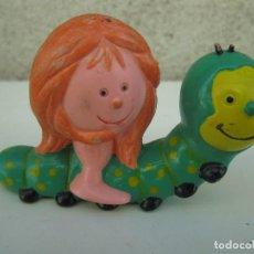Figuras de Goma y PVC: MIM - MASCOTA DEL PROGRAMA DE TV LOS SABIOS - FIGURA DE PVC - BRB - AÑO 1983.. Lote 84239584