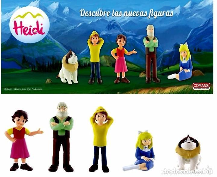 FIGURAS PVC HEIDI & FAMILIA (Juguetes - Figuras de Goma y Pvc - Comansi y Novolinea)