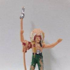 Figuras de Goma y PVC: JEFE INDIO . FIGURA REAMSA . AÑOS 60 EN PLASTICO. Lote 84446460