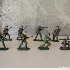 Figuras de Goma y PVC: CASCOS AZULES JECSAN. Lote 84489792