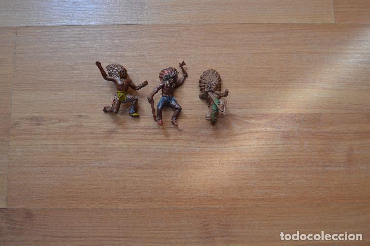INDIOS GOMA AÑOS 50 (Juguetes - Figuras de Goma y Pvc - Pech)
