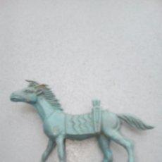 Figuras de Goma y PVC: ANTIGUO CABALLO COMANSI AZUL . Lote 84689036