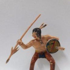 Figuras de Goma y PVC: GUERRERO INDIO PARA CABALLO . BATALLA DE LITTLE BIG HORN . FIGURA REAMSA . AÑOS 60. Lote 84744540