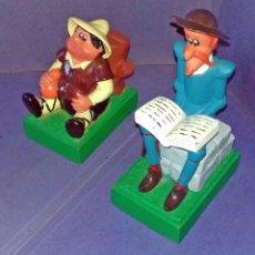 Figuras de Goma y PVC: BERNA - HUCHAS DON QUIJOTE Y SANCHO - SOPORTE PARA LIBROS - 1979 - NUEVAS . Lote 84952648