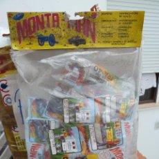 Figuras de Goma y PVC: BOLSA MONTA MAN MONTAPLEX CON 7 SOBRES CERRADOS RENAULT EXTRA 40. Lote 85027528