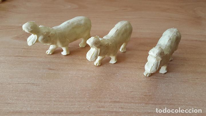 Figuras de Goma y PVC: lote 23 figuras animales persan y otras años 60s + regalo 12 figuras goma indios, soldados etc - Foto 3 - 85289532