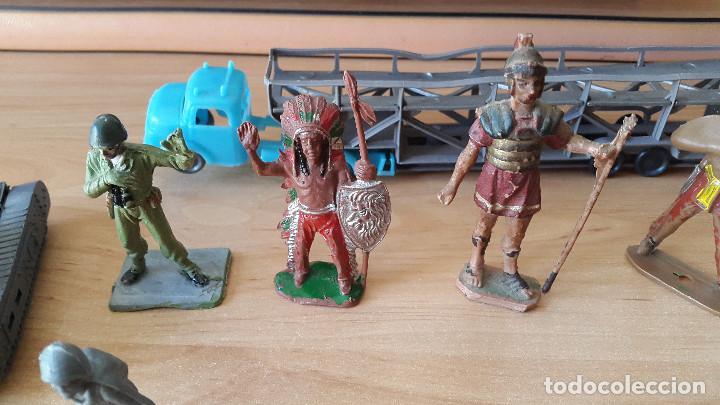 Figuras de Goma y PVC: lote 23 figuras animales persan y otras años 60s + regalo 12 figuras goma indios, soldados etc - Foto 14 - 85289532