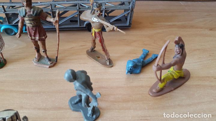 Figuras de Goma y PVC: lote 23 figuras animales persan y otras años 60s + regalo 12 figuras goma indios, soldados etc - Foto 15 - 85289532
