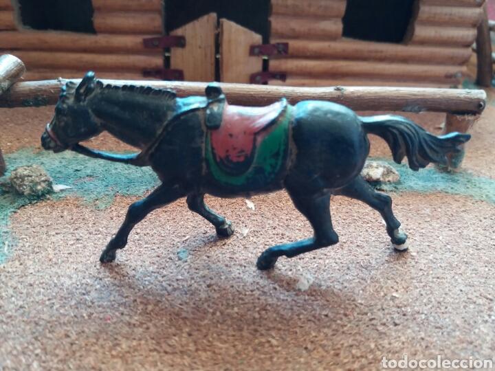 ANTIGUA FIGURA DEL OESTE EN GOMA. CABALLO COWBOY. PECH HERMANOS. AÑOS 50. (Juguetes - Figuras de Goma y Pvc - Pech)