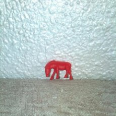 Figuras de Goma y PVC: MUÑECO FIGURA DUNKIN ANIMALES CEBRA ROJA. Lote 85322324