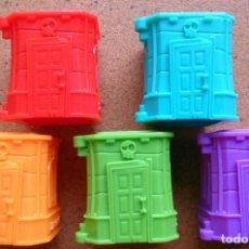 Figuras de Goma y PVC - Lote 5 casas torres cajas Zomlings Zomling, ventanas cerradas - 85327928