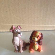 Figuras de Goma y PVC: LOTE PAREJA FIGURAS PVC LA DAMA Y EL VAGABUNDO WALT DISNEY AÑOS 80. Lote 85518083