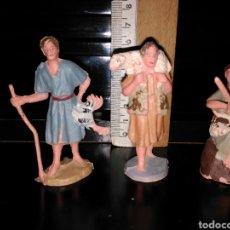 Figuras de Goma y PVC: FIGURAS DE PLASTICO PASTORES. Lote 85779319