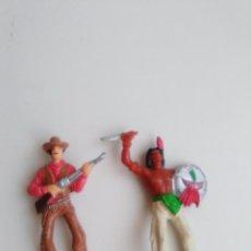 Figuras de Goma y PVC: FIGURAS COMANSI. INDIO COMANSI Nº 15 Y VAQUERO COMANSI N 2. Lote 85792684