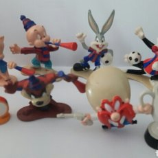 Figuras de Goma y PVC: FIGURAS STAR TOYS F.C.BARCELONA - BARÇA - WARNER BROS -LOONEY TUNES. F.C. BARCELONA. Lote 86038847