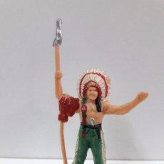 Figuras de Goma y PVC: JEFE INDIO . FIGURA REAMSA . AÑOS 60 EN PLASTICO. Lote 86115172