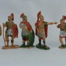 Figuras de Goma y PVC: 8 FIGURAS DE GLADIADORES, GLADIADOR ROMANO, REAMSA, AÑOS 60. REALIZADAS EN PLASTICO.. Lote 86252908