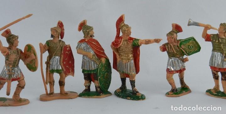 Figuras de Goma y PVC: 8 FIGURAS DE GLADIADORES, GLADIADOR ROMANO, REAMSA, AÑOS 60. REALIZADAS EN PLASTICO. - Foto 2 - 86252908