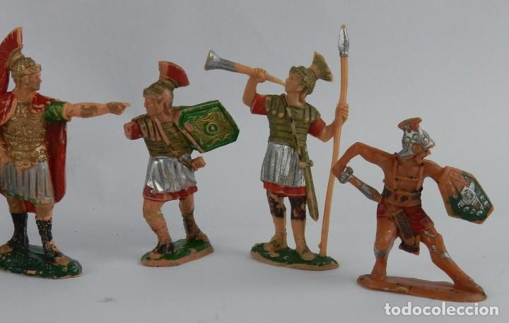 Figuras de Goma y PVC: 8 FIGURAS DE GLADIADORES, GLADIADOR ROMANO, REAMSA, AÑOS 60. REALIZADAS EN PLASTICO. - Foto 3 - 86252908