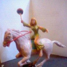 Figuras de Goma y PVC: FIGURAS EN PLÁSTICO SIGRID ESTEREOPLAST PINTADO A MANO CAPITAN TRUENO MUY DIFICIL CONSEGUIR. Lote 86318332