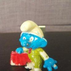 Figuras de Goma y PVC: FIGURA PVC PITUFO TORERO SMURF PEYO. Lote 86318768