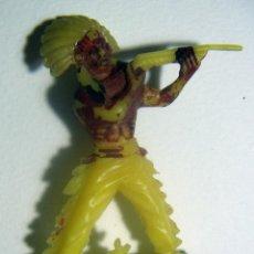 Figuras de Goma y PVC: ANTIGUA FIGURA DEL OESTE. INDIO EN PLÁSTICO. W. GERMANY.. Lote 86374604