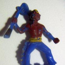 Figuras de Goma y PVC: ANTIGUA FIGURA DEL OESTE. INDIO EN PLÁSTICO. W. GERMANY.. Lote 86374664