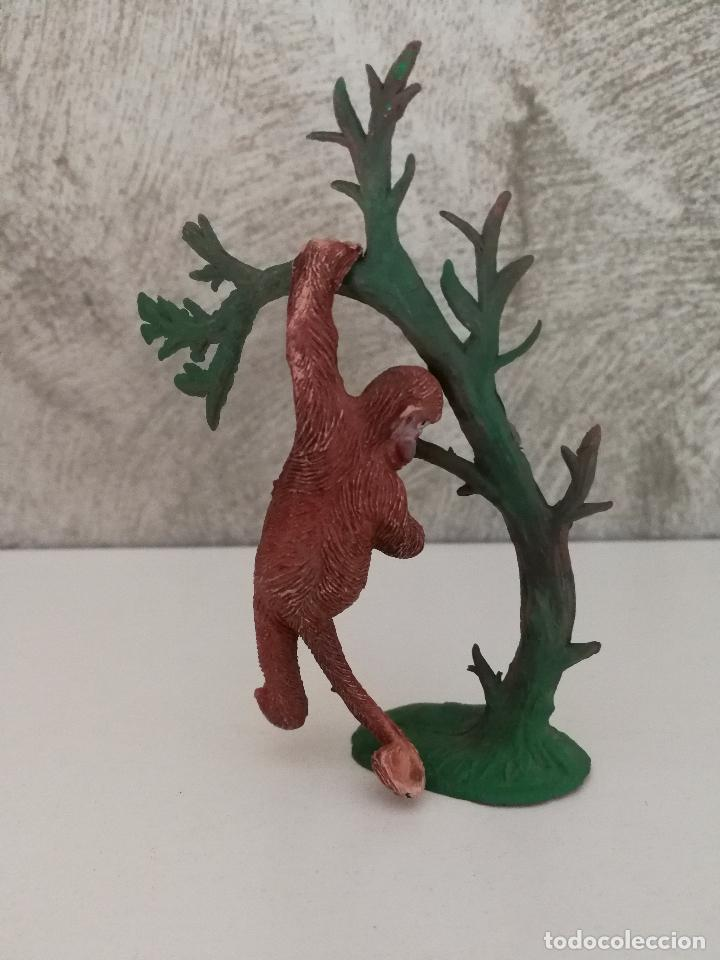 Figuras de Goma y PVC: MONO CHIMPANCÉ EN ÁRBOL HERMANOS PECH AÑOS 50 - Foto 2 - 86414008