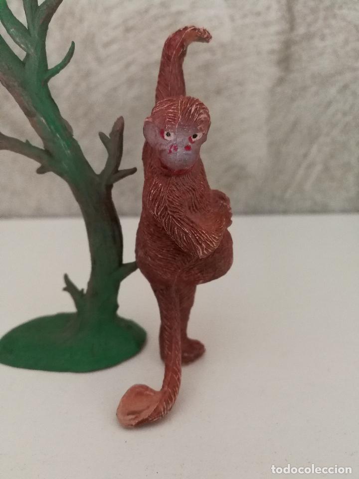 Figuras de Goma y PVC: MONO CHIMPANCÉ EN ÁRBOL HERMANOS PECH AÑOS 50 - Foto 5 - 86414008