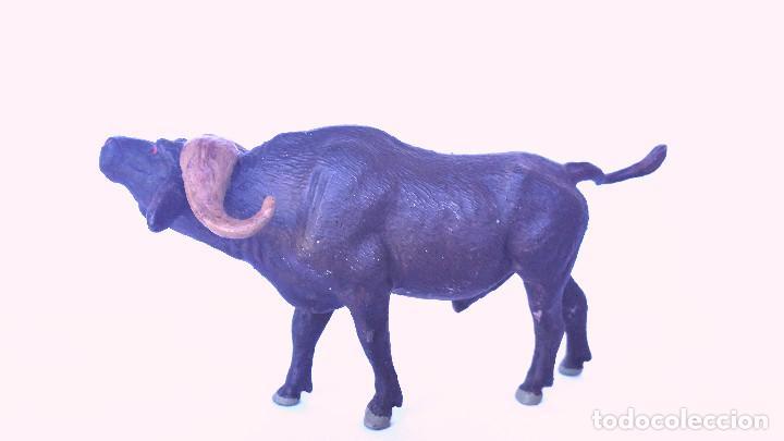 Figuras de Goma y PVC: BUFALO CAFRE (AFRICANO) LINEOL 1950 ANIMALES ZOO , PECH, LAFREDO, ARCLA - Foto 3 - 86527976