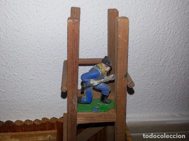 Figuras de Goma y PVC: COMANSI : ANTIGUO FUERTE DEL OESTE FORT FEDERAL EN MADERA DE 1ª ETAPA AÑOS 60 - Foto 8 - 86615624