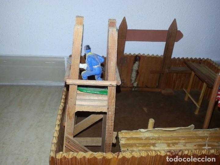 Figuras de Goma y PVC: COMANSI : ANTIGUO FUERTE DEL OESTE FORT FEDERAL EN MADERA DE 1ª ETAPA AÑOS 60 - Foto 16 - 86615624