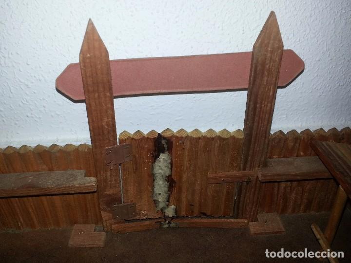 Figuras de Goma y PVC: COMANSI : ANTIGUO FUERTE DEL OESTE FORT FEDERAL EN MADERA DE 1ª ETAPA AÑOS 60 - Foto 18 - 86615624