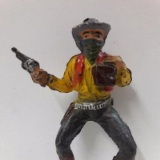 Figuras de Goma y PVC: VAQUERO - ATRACADOR PARA CABALLO . REALIZADO POR PECH . AÑOS 50 EN GOMA. Lote 86669116