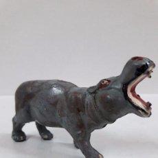 Figuras de Goma y PVC: HIPOPOTAMO . REALIZADO POR PECH . SERIE FIERAS . AÑOS 50 EN GOMA. Lote 86724272