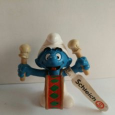 Figuras de Goma y PVC: FIGURA NUEVA PVC PITUFO BOMBO PEYO HAPPY SMURFDAY MARCA SCHLEIC. Lote 86755007