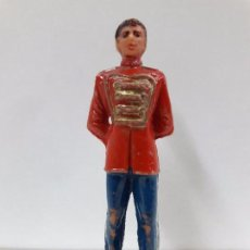 Figuras de Goma y PVC: PORTERO O MOZO DE PISTA . REALIZADO POR JECSAN . SERIE CIRCO . AÑOS 60 EN PLASTICO. Lote 86853196