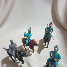 Figuras de Goma y PVC: LOTE DE 4 SOLDADOS A CABALLO POSIBLE SOLDIS REAMSA AÑOS 70 SOLDADO VER FOTOS. Lote 86937982