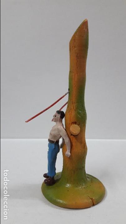 Figuras de Goma y PVC: PRISIONERO EN POSTE DE TORTURA . REALIZADO POR CAPELL . AÑOS 50 - Foto 2 - 86939128