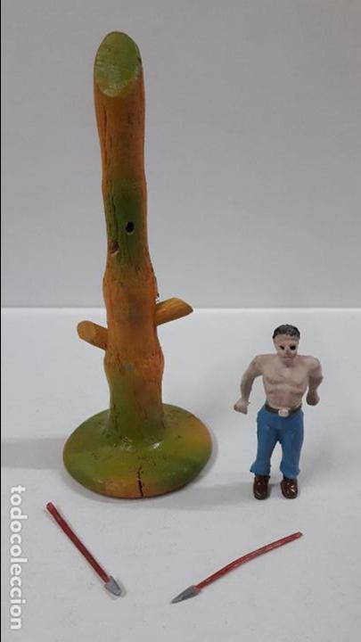 Figuras de Goma y PVC: PRISIONERO EN POSTE DE TORTURA . REALIZADO POR CAPELL . AÑOS 50 - Foto 5 - 86939128