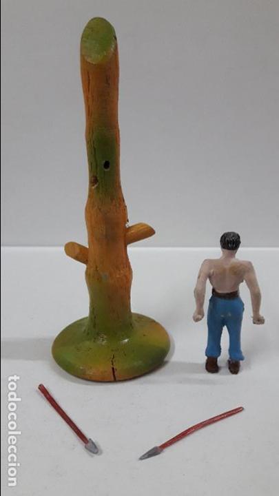 Figuras de Goma y PVC: PRISIONERO EN POSTE DE TORTURA . REALIZADO POR CAPELL . AÑOS 50 - Foto 6 - 86939128