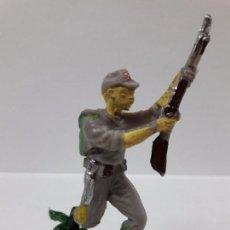 Figuras de Goma y PVC: SOLDADO JAPONES . REALIZADO POR PECH . AÑOS 60 EN PLASTICO. Lote 87009416